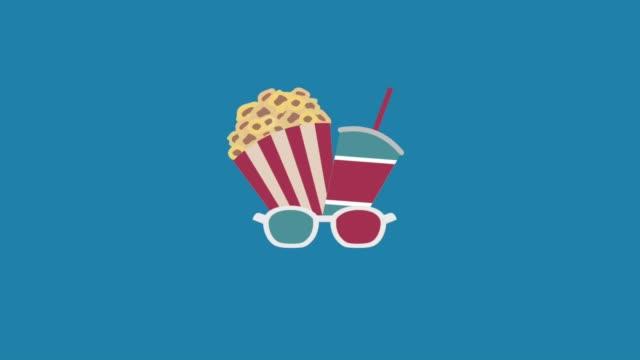 vídeos de stock, filmes e b-roll de loja de comida de cinema - balde pipoca