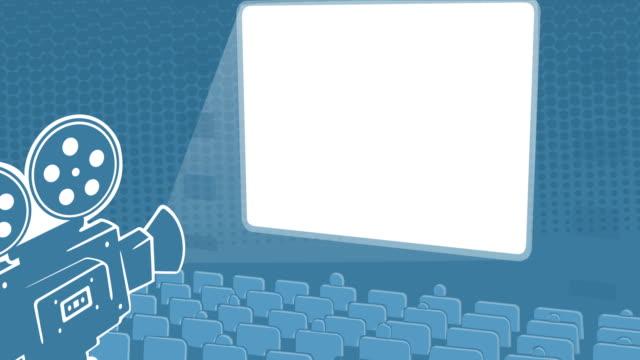 Cinema Hall And White Screen video
