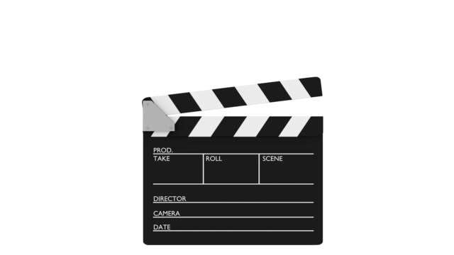 Cinema slate clapper video