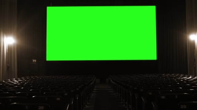 Cinema With Green Screen Stock Video Download Video Clip Now Istock