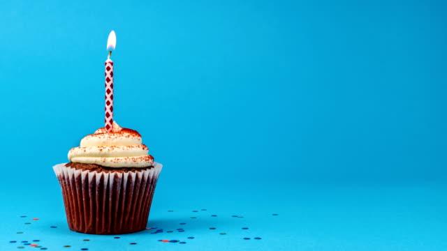 Cinemagraph Cupcake Birthday Candle Seamless Loop