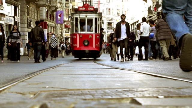 HD - Cinemagraph Istanbul Taskim Street Crowd video