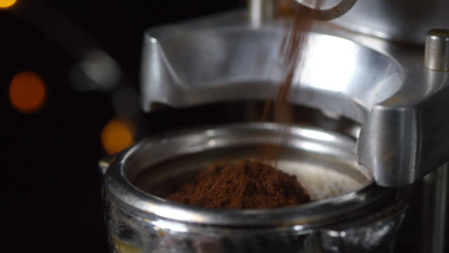 Cinemagraph of Ground Coffee Beans - vídeo