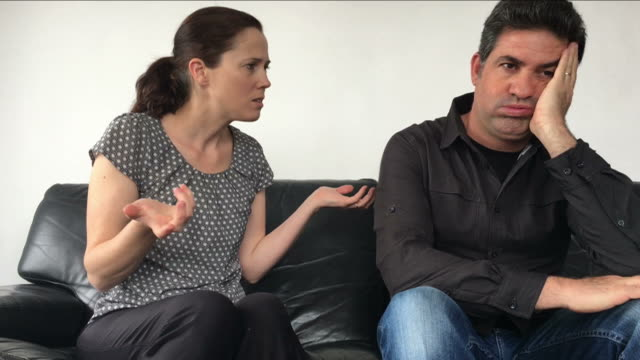 Cinemagraph of Nagging wife complains to her husband video