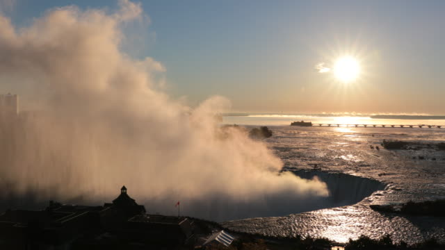 Cinemagraph of Niagara Falls at Sunrise UHD 4K Video video