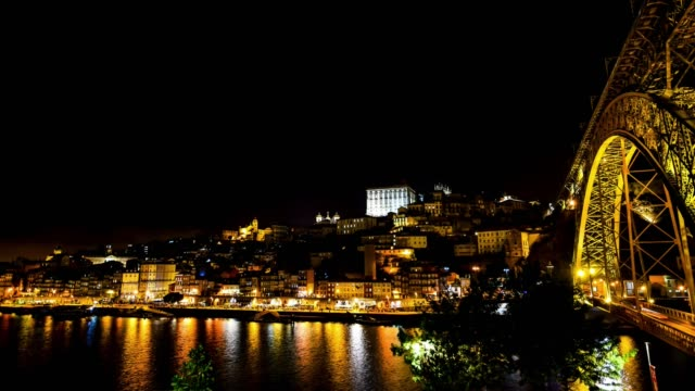 Cinemagraph of Porto city at night