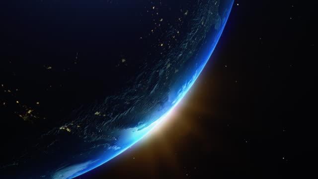 vídeos y material grabado en eventos de stock de cine azul tierra vista desde el espacio - constelación