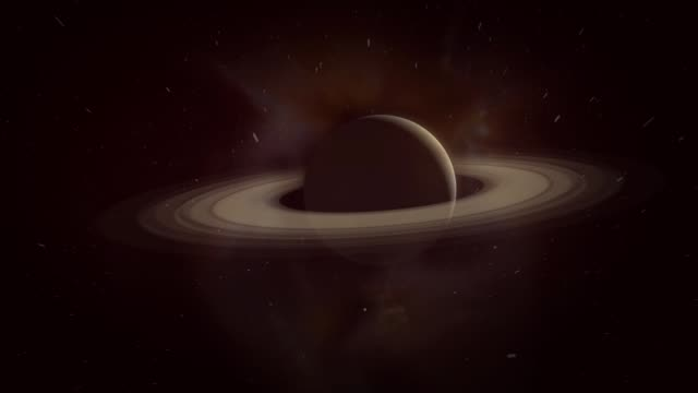 Cinematic Saturn Animation in Space - V5 - vídeo