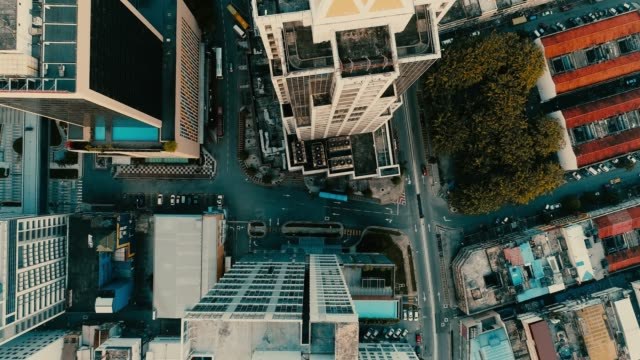 aerial. cinematic style of kuala lumpur city from the drone. yellow - blue color footage. - malese video stock e b–roll