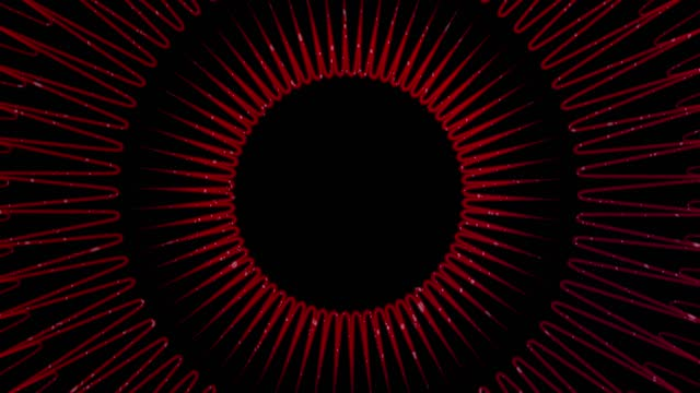 Circle Abstract Red Background for Christmas. 4K Stock Video