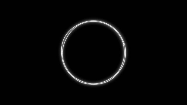 kreis-audiomodulations-visualisierungseffekt - sound wave stock-videos und b-roll-filmmaterial