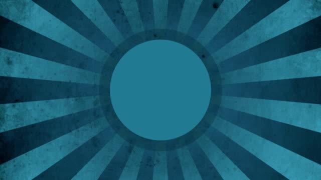 Circle Blue Vintage Loop Background 4K video