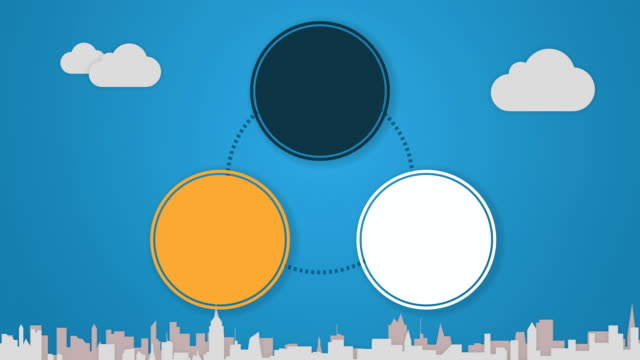 Circle diagram animation for Powerpoint presentations 3 video