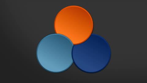vidéos et rushes de organigramme diagramme circulaire, trois résultat cercle, présentation templete - vue partielle