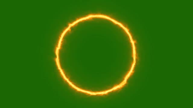Circle Fire - Green Screen video