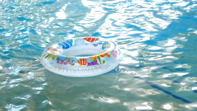 Circle Floating In The Pool video