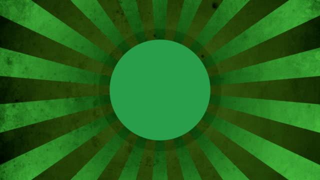 Circle Green Vintage Loop Background 4K video