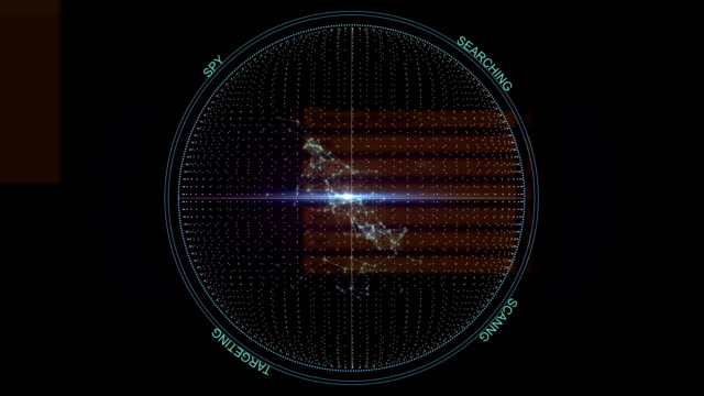 Circle HUD intrerface background loop video