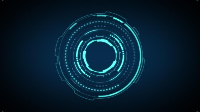 vídeos y material grabado en eventos de stock de interfaces de círculo hud, pantalla futurista de alta tecnología - descargar internet