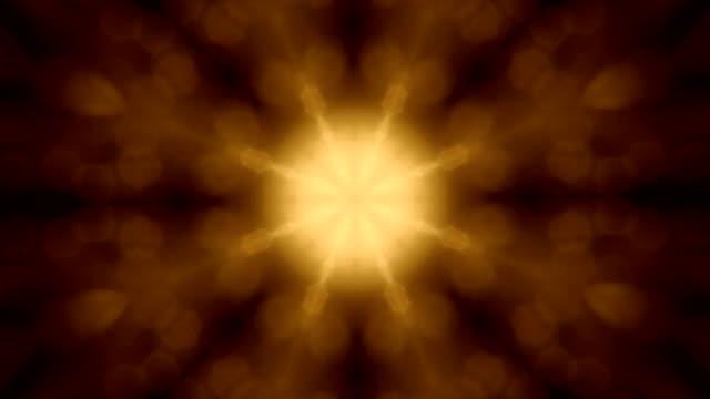 Circle kaleidoscopic pattern like snowflake. video