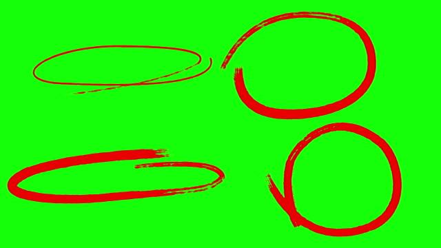 vídeos y material grabado en eventos de stock de marcadores de círculo animados, pantalla verde - rojo