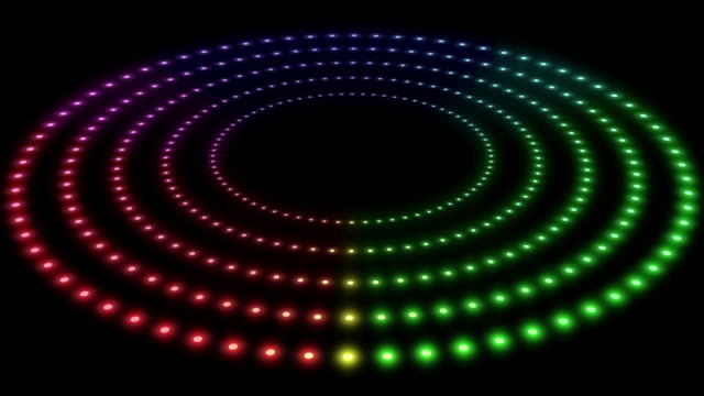 Circle of light spin around center can be use as stage lights for any product.