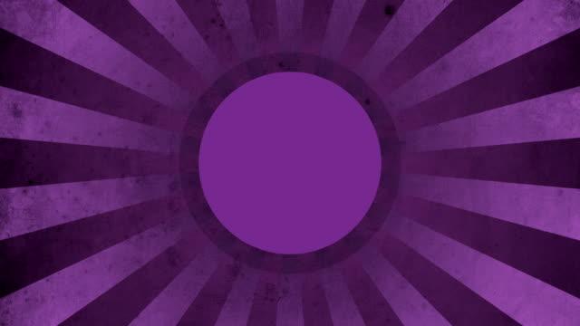 Circle Purple Vintage Loop Background 4K video