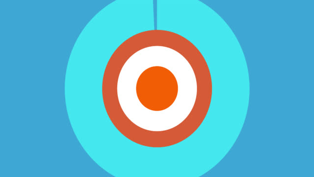 4K Circle Radius Radar Style Flat Transition 3 (with alpha channel) video
