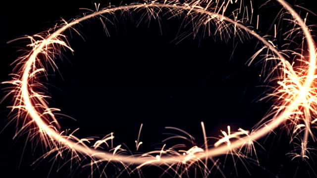 Circle Sparkler background video