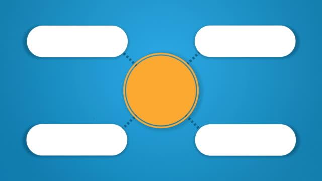 サークルツリー図にはプレゼンテーション 4 - レポートのビデオ点の映像素材/bロール