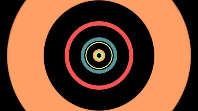 stockvideo's en b-roll-footage met cirkel tunnel technische achtergrond - naadloos patroon