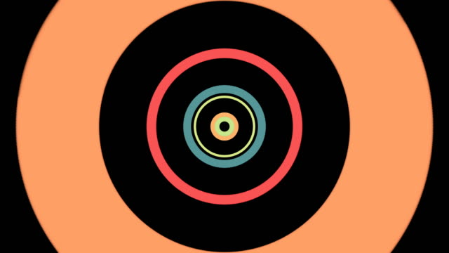 stockvideo's en b-roll-footage met cirkel tunnel technische achtergrond - oneindigheid