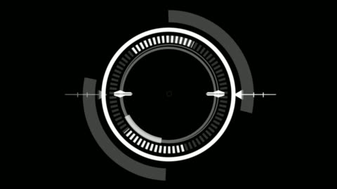 HUD Circle User interface on isolated black background. Target searching scope and scanning element theme. Digital UI and Sci-fi circular. 3D illustration rendering HUD Circle User interface on isolated black background. Target searching scope and scanning element theme. Digital UI and Sci-fi circular. 3D illustration rendering design element stock videos & royalty-free footage