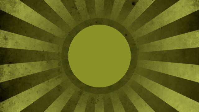 Circle Yellow Vintage Loop Background 4K video