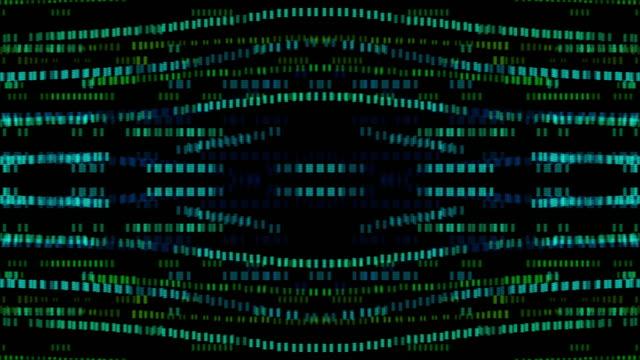 vidéos et rushes de cercles 4k et fond numérique lumineux carré loopable, concept d'éléments d'animation - image composite numérique