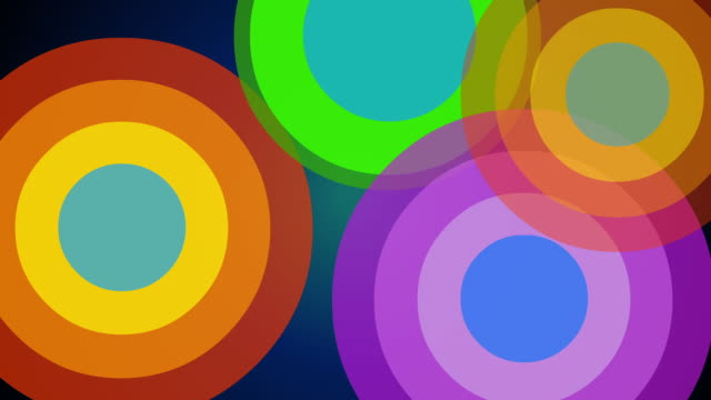 circles and stars pop art background loop-able - pop art video stock e b–roll