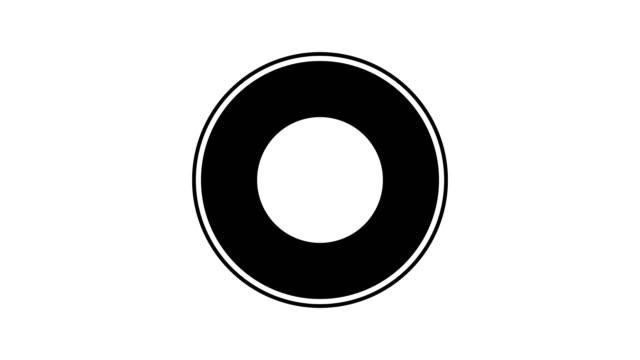 圓圈運動背景黑色和白色的場景與空間。動畫4k 視頻 - 模板 個影片檔及 b 捲影像