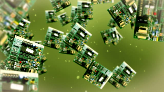 Circuit board against green video