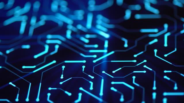 vídeos y material grabado en eventos de stock de primer plano de fondo de placa de circuito - electrónica