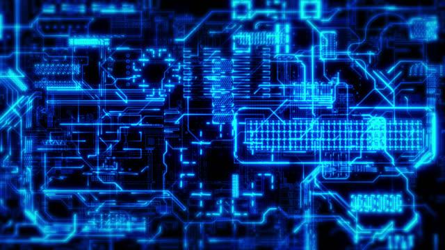 vídeos y material grabado en eventos de stock de fondo de la placa de circuito - placa madre
