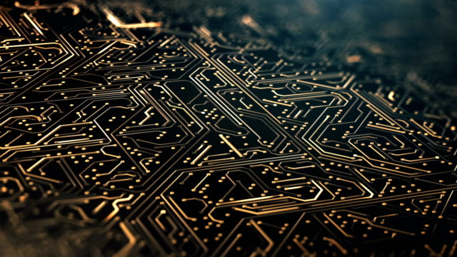Circuit Board Pattern Close Up (Gold) - Loop Seamlessly loopable animation, perfectly usable for a wide range of technology related topics. white collar worker stock videos & royalty-free footage