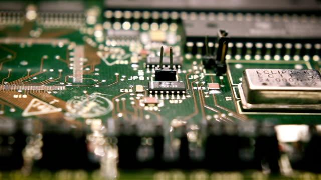 vídeos y material grabado en eventos de stock de tecnología de placa de circuito 4 - placa madre