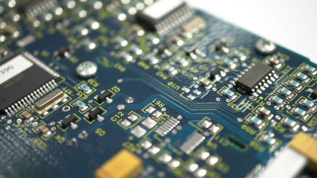 Circuit board Electronic circuit board. quality control stock videos & royalty-free footage