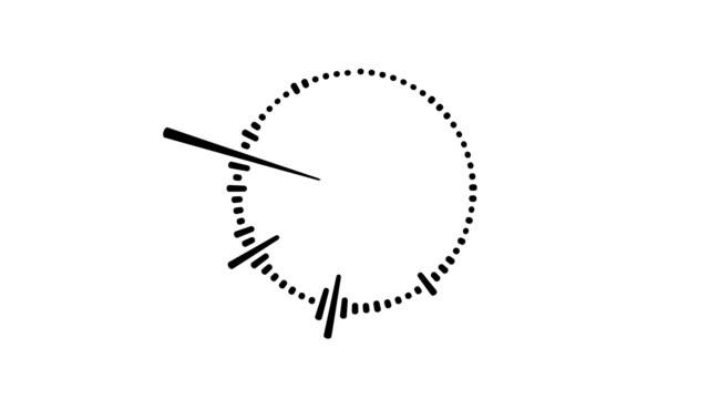 circular black audio frequency sound wave on white background - attrezzatura per la musica video stock e b–roll