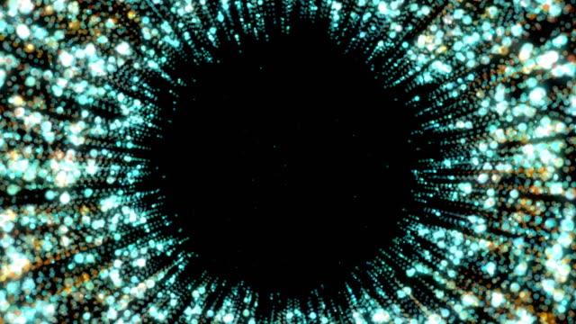 vídeos y material grabado en eventos de stock de patrón de movimiento centrado circular. fondo geométrico abstracto de neón. - velocidad