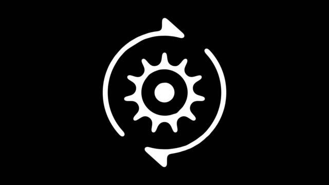 vídeos de stock e filmes b-roll de circular economy hand drawn line animation with alpha - circular economy