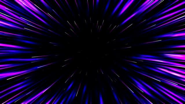 원형 기하학적 중심 모션 패턴입니다. 추상 네온 기하학적 배경입니다. 항성 동적 선 또는 광선입니다. 원활한 루프 - 태양광선 스톡 비디오 및 b-롤 화면