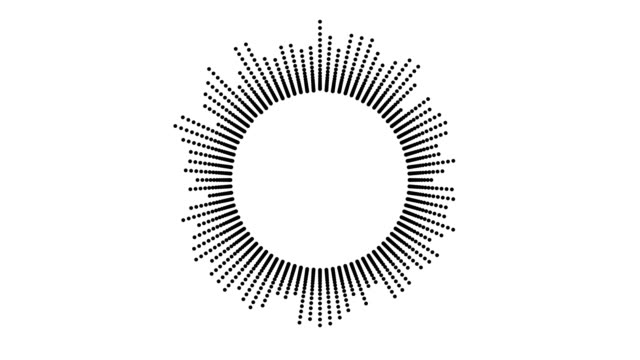 cirkulär hud gränssnittsdesign, infographic element som musik equalizer, ljud vågor eller ljud frekvens i linjer. tech och vetenskap, analys tema. - oväsen bildbanksvideor och videomaterial från bakom kulisserna