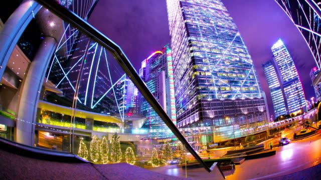 Circular motion of city life. Concept of bustle modern urban life. high dynamic range imaging stock videos & royalty-free footage