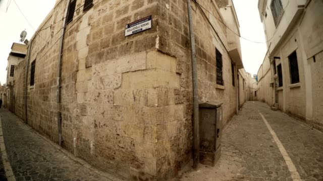 Circular Panorama Crossroad on Narrow Ancient Stone Streets Urfa video